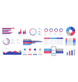 infographics design and marketing icons can vector image vector image