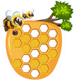 isolated beehive on white background vector image