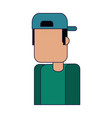 man with hat back vector image vector image