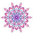 mandala flower design element vector image vector image