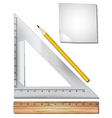 Math equipment vector image