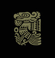 mayan art religious symbol ancient indians vector image vector image