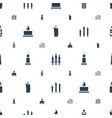 memorial icons pattern seamless white background vector image vector image