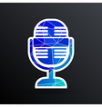 microphone icon broadcasting isolated journalist vector image vector image