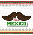 moustache viva mexico symbol graphic vector image vector image
