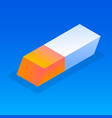 Office eraser icon isometric style