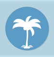 palm icon vector image