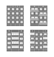 Panel houses set1 vector image vector image