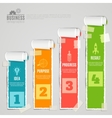 Paper Stage Infographic Set vector image vector image