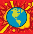 planet earth explode - world globe catastrophe vector image vector image