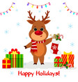 postcard merry christmas and happy new year 2020 vector image vector image