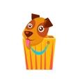 Puppy Hiding In Shopping Bag vector image vector image