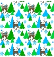 reindeers in forest vector image