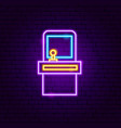 retro old game neon sign vector image vector image