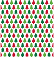 seamless christmas pattern with evergreen trees vector image