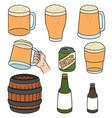 set of beers vector image