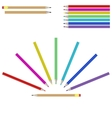 Set of colourful marker pens vector image vector image