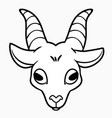 simplified outline goat head template vector image