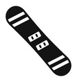 snowboard icon simple style vector image