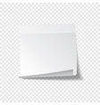 sticky paper note with tape and shadow isolated on vector image vector image