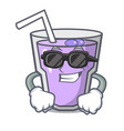 super cool berry smoothie character cartoon vector image vector image