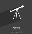 Telescope symbol Flat modern web design with long vector image