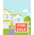 The house on sale vector image