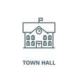 town hallcity hall line icon linear vector image vector image