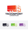 truck expedition logo vector image vector image