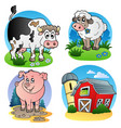 various farm animals 1 vector image vector image