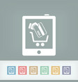 web store icon vector image vector image