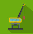weight crane icon flat style vector image
