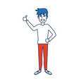 young man standing cartoon person image vector image vector image