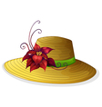 A fashionable hat with a plant vector image vector image