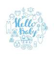 Baby shower celebration greeting and invitation vector image vector image