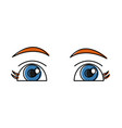 beautiful eyes cartoon vector image vector image