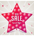 Big sale Pink star Sale retro banner vector image vector image