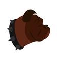 Bulldog dog icon flat style vector image vector image