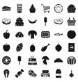 buy icons set simple style vector image vector image