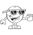 Cartoon orange wearing sunglasses vector image vector image