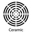 ceramic sign symbol of food grade metal indicate vector image