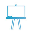 chalkboard tripod study learning blank icon vector image