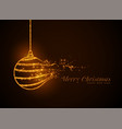 christmas ball made with golden sparkles vector image vector image