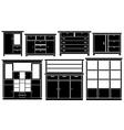 closet set vector image vector image
