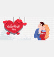 couple in love guy and girl vector image