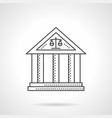 court building flat line icon vector image