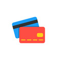 credit card flat icon vector image vector image