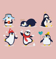cute funny cartoon penguins for kids vector image