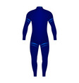 diving suit in blue design vector image vector image