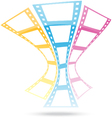 film strip abstract background vector image